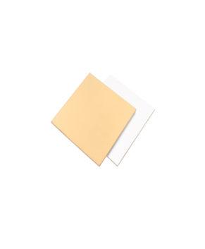 Подложка квадратная 11,5х11,5см, золото/белая, 1,5мм