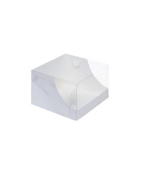 Коробка для торта с прозрачной крышкой, 20,5х20,5х14см